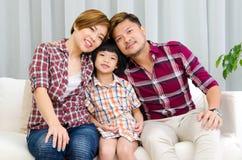 азиатская семья симпатичная Стоковое Фото