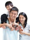 азиатская семья счастливая Стоковые Изображения RF
