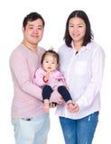 азиатская семья счастливая стоковое фото rf