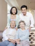 Азиатская семья Стоковые Фото