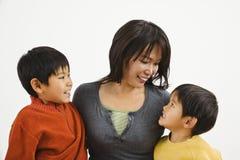 азиатская семья Стоковое Изображение RF