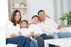азиатская семья Стоковые Изображения RF