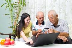 азиатская семья стоковая фотография rf