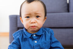 Азиатская скорба чувства ребёнка Стоковые Изображения RF