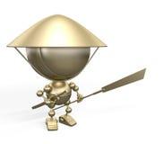 азиатская статуэтка предохранителя золота Стоковые Изображения