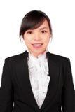 Азиатская сторона улыбки женщины Стоковые Фото