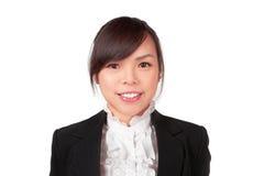 Азиатская сторона улыбки женщины Стоковое фото RF