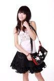 азиатская сумка девушки Стоковые Фото