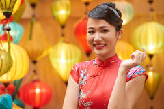 азиатская счастливая женщина Стоковые Изображения RF