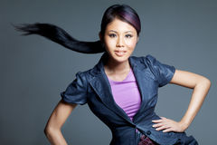 азиатская съемка модели способа красотки стоковое фото rf