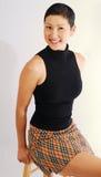 азиатская табуретка девушки Стоковая Фотография RF
