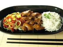 Азиатская тарелка стоковая фотография rf