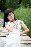азиатская усмешка девушки Стоковые Изображения
