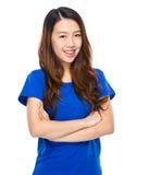 Азиатская усмешка женщины Стоковая Фотография