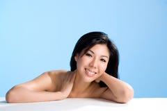 азиатская усмешка красотки Стоковая Фотография RF