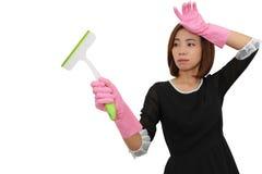 Азиатская утомлянная домохозяйка Стоковые Фотографии RF