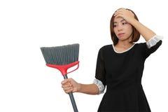 Азиатская утомлянная домохозяйка Стоковая Фотография RF