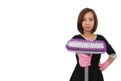 Азиатская утомлянная домохозяйка Стоковое Изображение