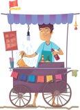 азиатская улица кухни иллюстрация вектора