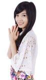 Азиатская улыбка девушки Стоковые Изображения RF