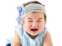 Азиатская улыбка ребёнка стоковое изображение rf