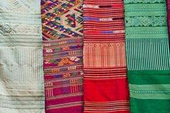 азиатская цветастая ткань стоковое фото
