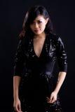 азиатская черная девушка платья коктеила Стоковые Изображения
