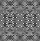 Азиатская черно-белая безшовная картина Стоковые Фото