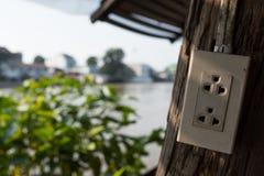 Азиатская электрическая штепсельная вилка с множественным гнездом Стоковые Фото