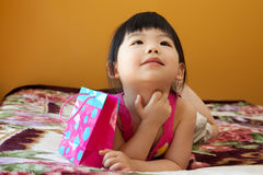 азиатская девушка ребенка младенца Стоковое фото RF