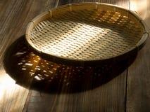 азиатская bamboo еда корзины Стоковое Изображение