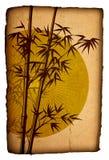 азиатская bamboo иллюстрация grunge картона Стоковое Изображение RF