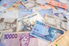 Азиатские банкноты валюты Стоковые Изображения