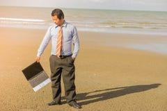 Азиатские бизнесмены стремятся при будучи деланными работа Стоковая Фотография RF