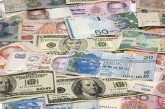 азиатские валюты стоковое фото