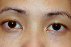 азиатские глаза Стоковые Фотографии RF