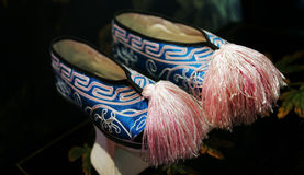 азиатские голубые розовые ботинки Стоковая Фотография RF