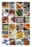 Азиатские еды и блюда стоковое изображение