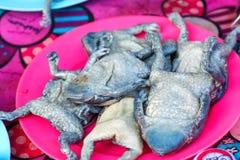 Азиатские жабы narrowmouth, лягушка, рынок свежих продуктов в Таиланде Стоковые Фото