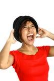 азиатские женские screaming детеныши Стоковые Фото