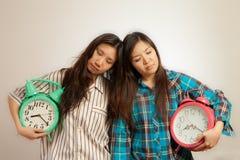 Азиатские женщины в утре Стоковая Фотография