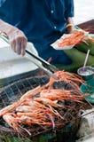 азиатские зажженные креветки стоковое изображение rf