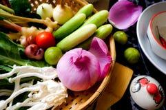 Азиатские ингридиенты для тайской еды стоковое изображение
