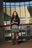 азиатские книги держа студента Стоковое Изображение RF