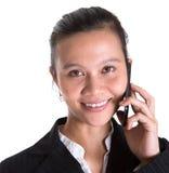 Азиатские коммерсантка и Smartphone VIII Стоковая Фотография