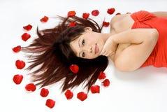 азиатские красивейшие лежа женщины Стоковое фото RF