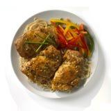 азиатские лапши цыпленка вводят бедренные кости в моду Стоковые Фото