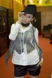 азиатские модели женщины выставки культуры фарфора Стоковые Фотографии RF