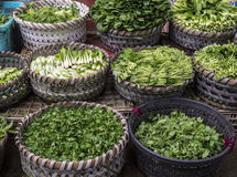 Азиатские овощи в корзинах Стоковое фото RF