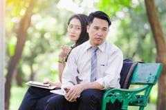 Азиатские пары дела Стоковая Фотография